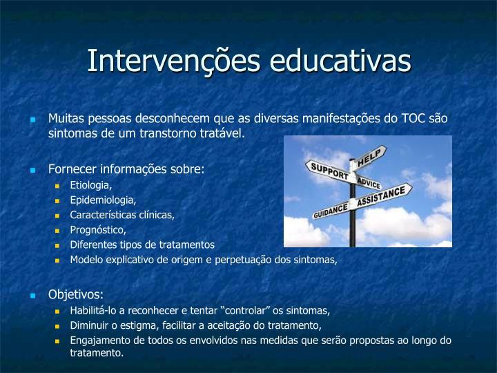 Intervenções educativas