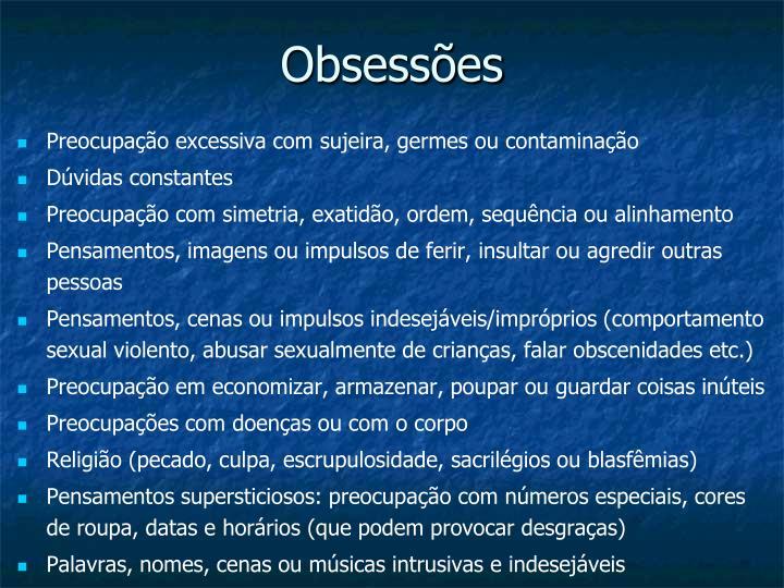 Obsessões