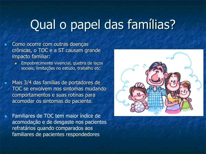 Qual o papel das famílias?