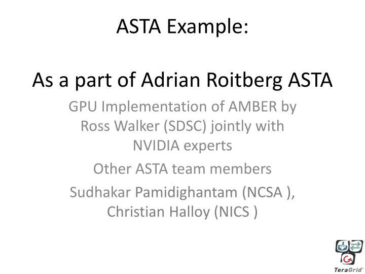 ASTA Example: