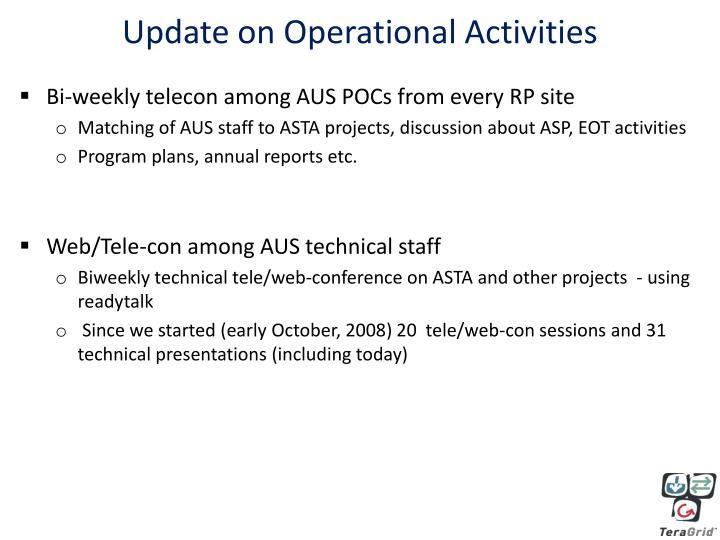Update on Operational Activities