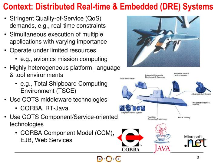 Context distributed real time embedded dre systems