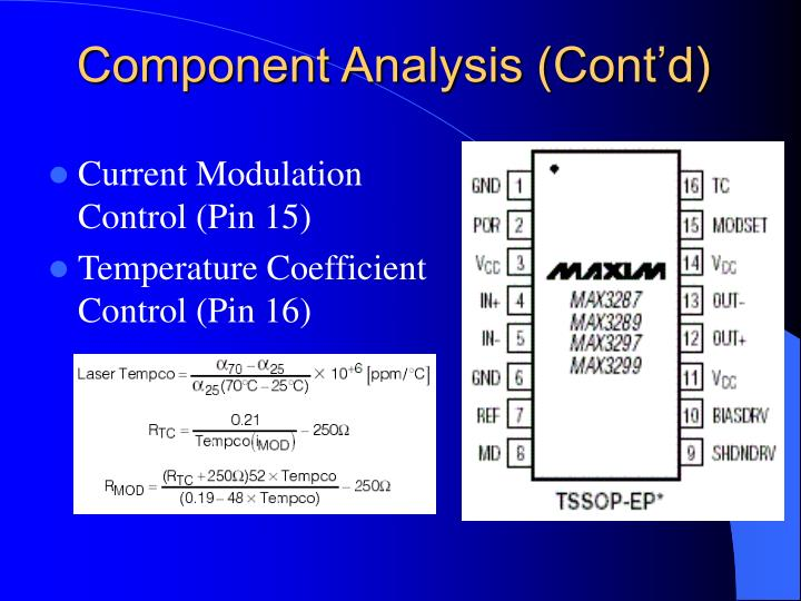 Component Analysis (Cont'd)