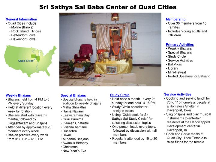 Sri sathya sai baba center of quad cities