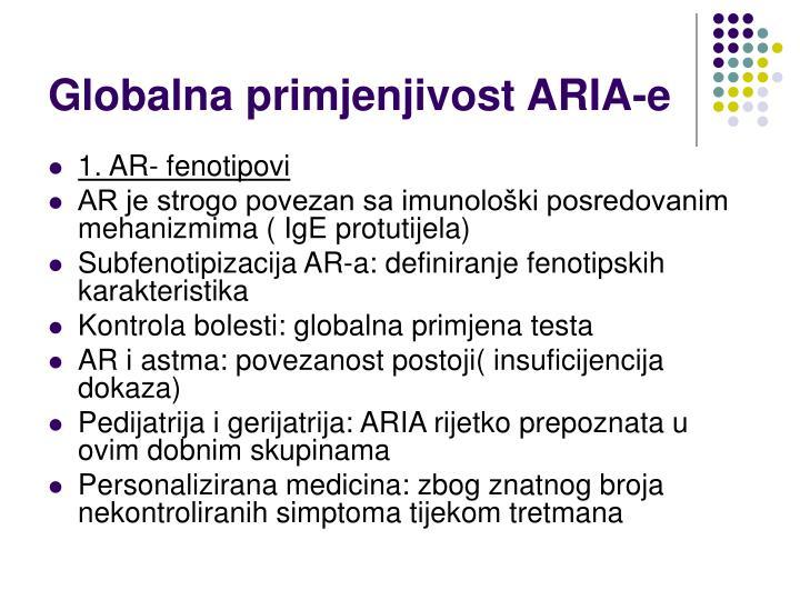 Globalna primjenjivost ARIA-e