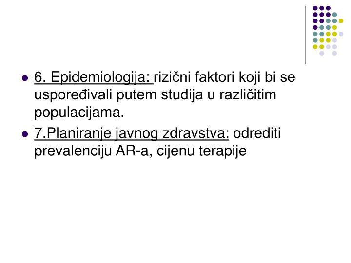 6. Epidemiologija:
