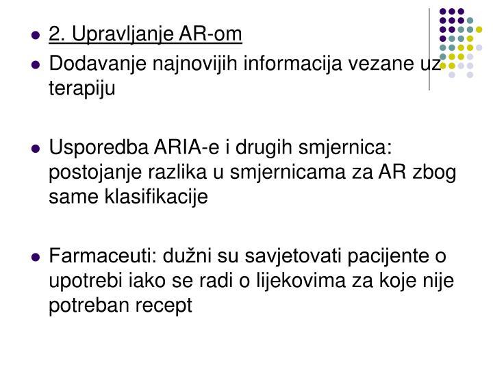 2. Upravljanje AR-om
