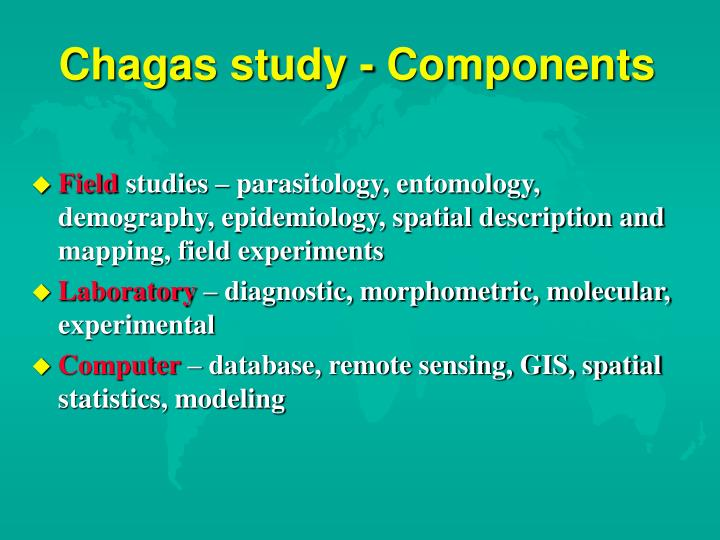 Chagas study - Components