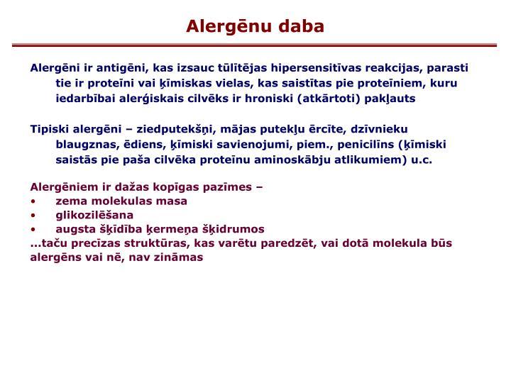 Alergēnu daba
