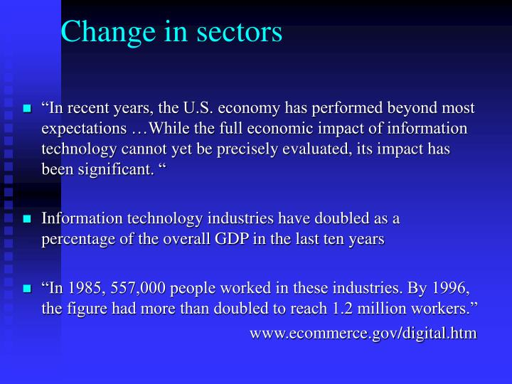 Change in sectors