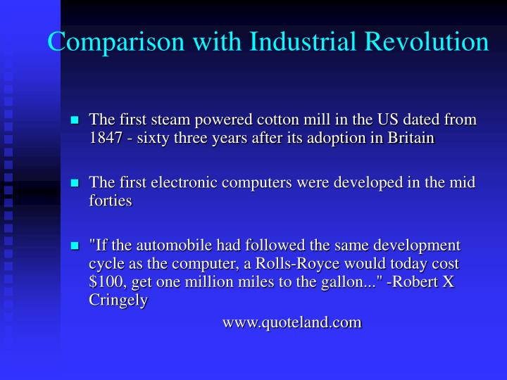 Comparison with Industrial Revolution