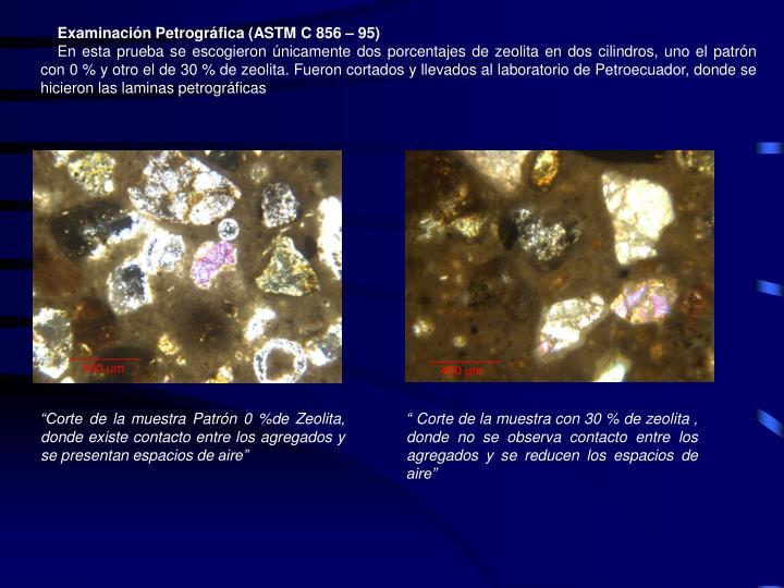 Examinación Petrográfica