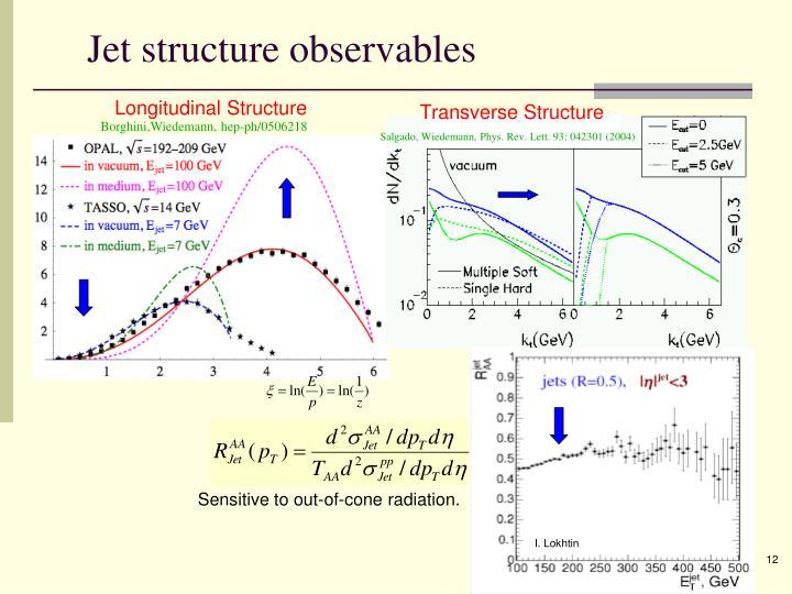 Jet structure observables