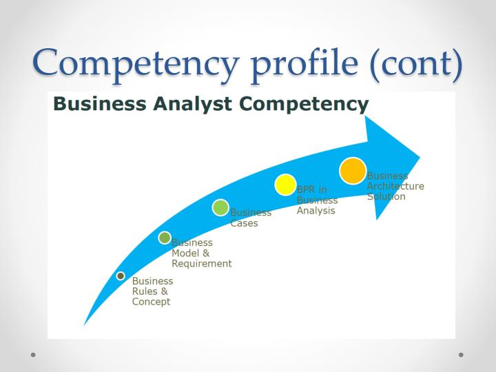 Competency profile (cont)