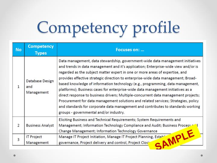 Competency profile