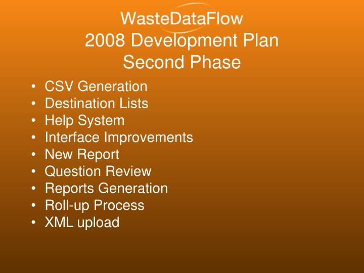 2008 Development Plan