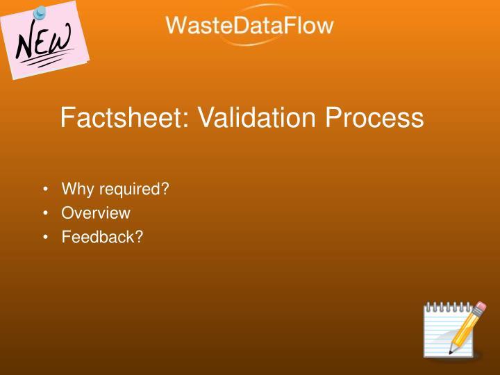Factsheet: Validation Process