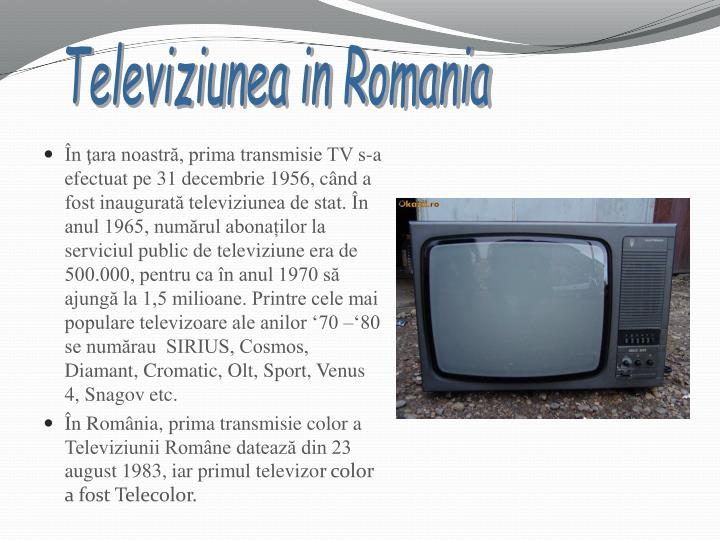 Televiziunea in Romania