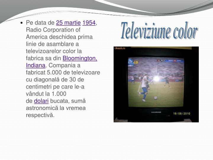 Televiziune color