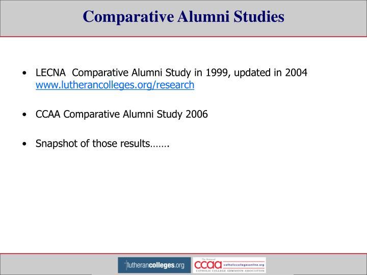 Comparative Alumni Studies
