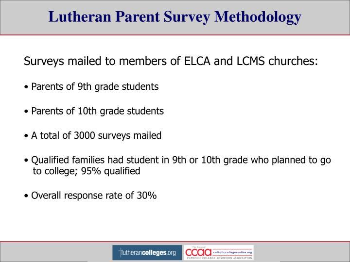 Lutheran Parent Survey Methodology