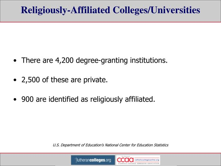 Religiously-Affiliated Colleges/Universities