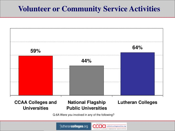 Volunteer or Community Service Activities
