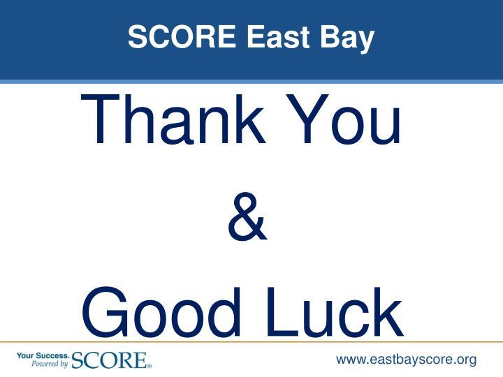 SCORE East Bay