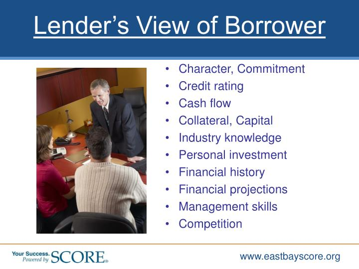 Lender's View of Borrower