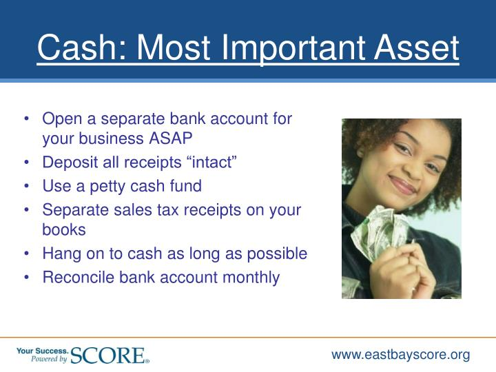 Open a separate bank account for your business ASAP