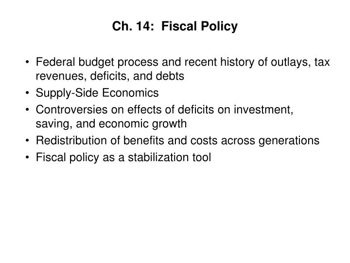 Ch 14 fiscal policy