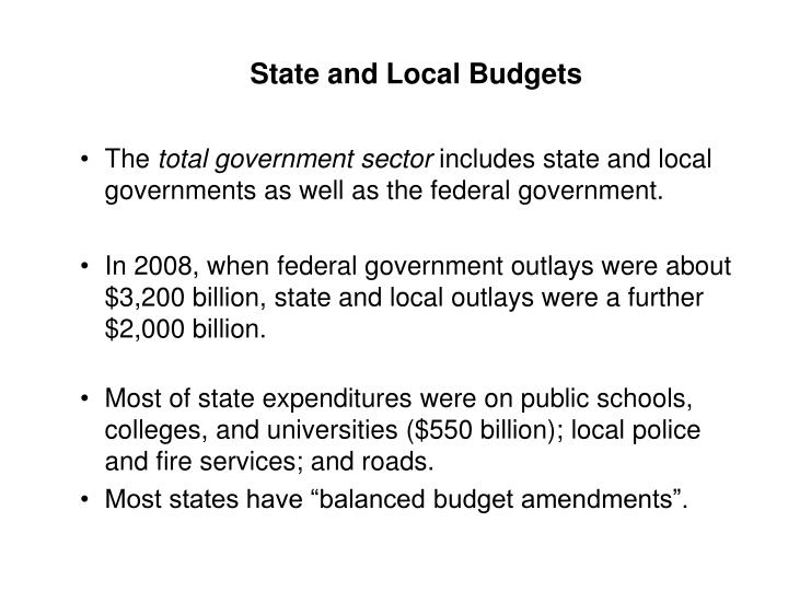 State and Local Budgets