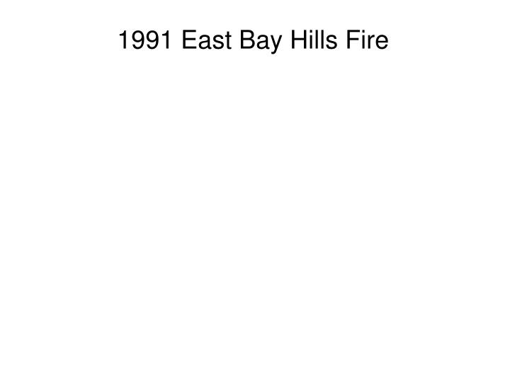 1991 East Bay Hills Fire