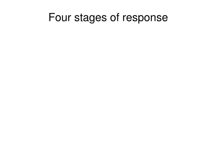 Four stages of response