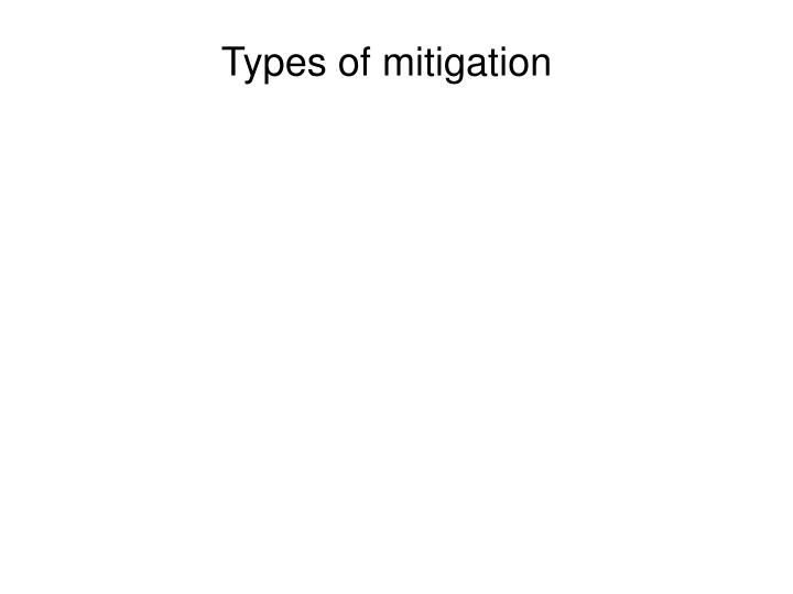Types of mitigation