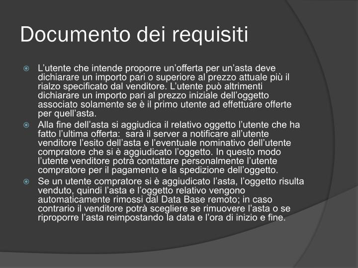 Documento dei requisiti