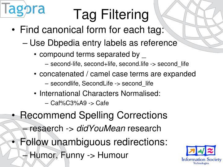 Tag Filtering