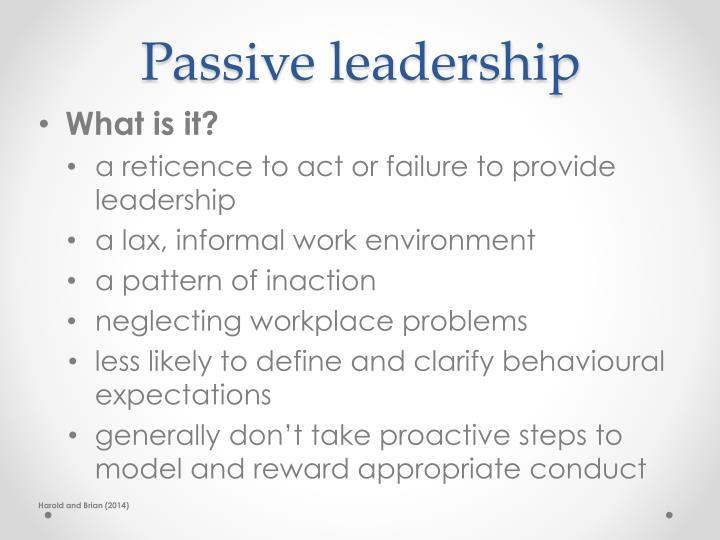 Passive leadership