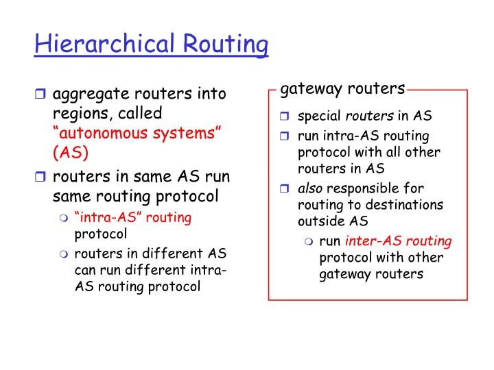 aggregate routers into regions,