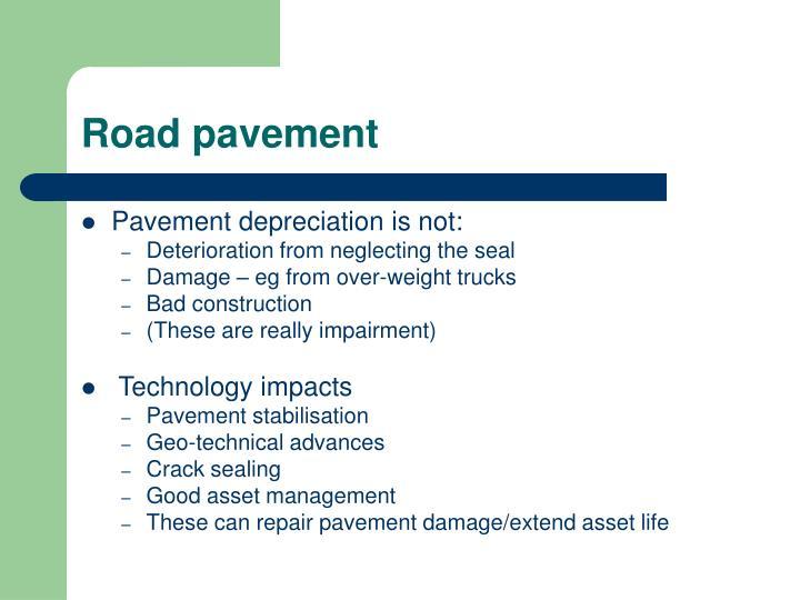 Road pavement