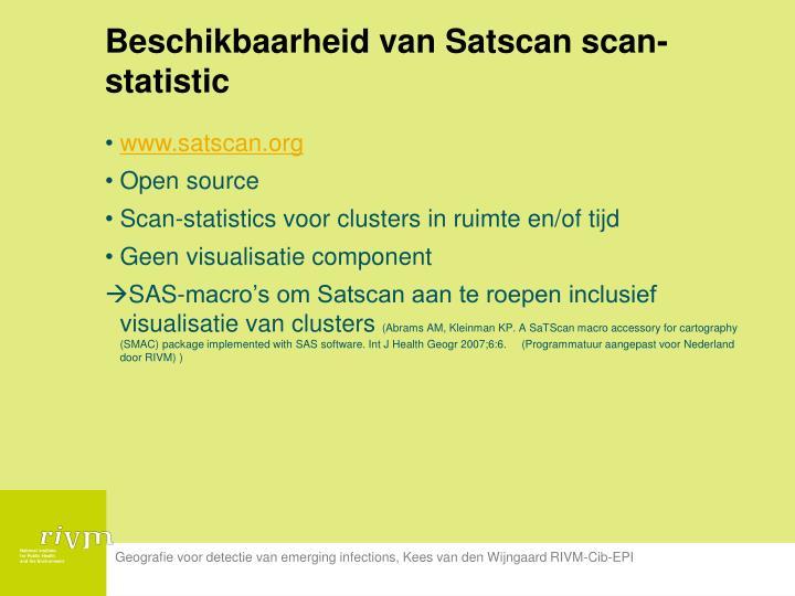 Beschikbaarheid van Satscan scan-statistic