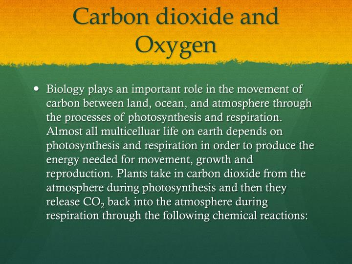 Carbon dioxide and Oxygen