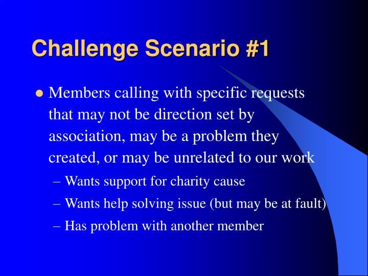 Challenge Scenario #1
