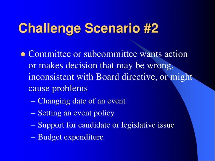 Challenge Scenario #2