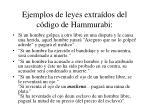 ejemplos de leyes extra dos del c digo de hammurabi