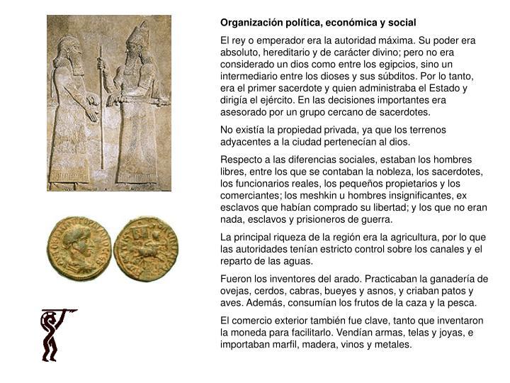 Organización política, económica y social