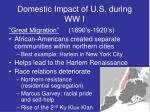 domestic impact of u s during ww i2