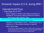 domestic impact of u s during ww i4