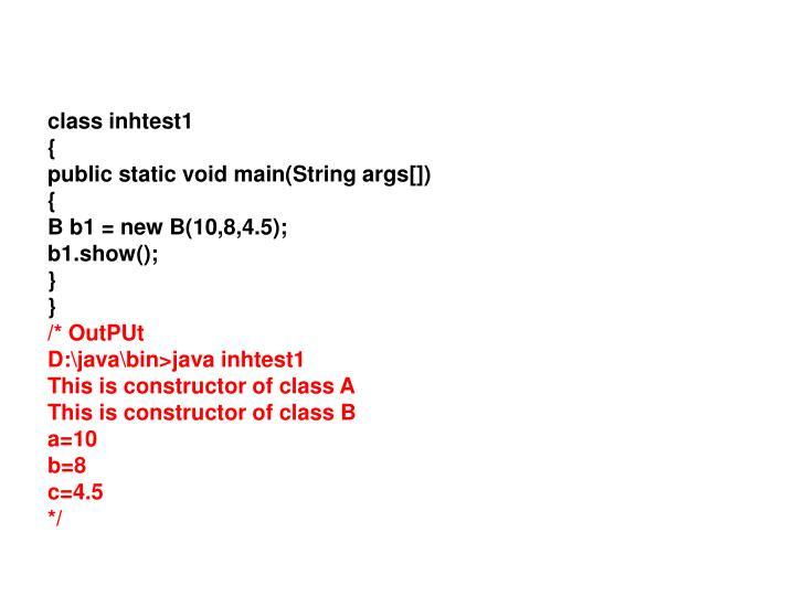 class inhtest1
