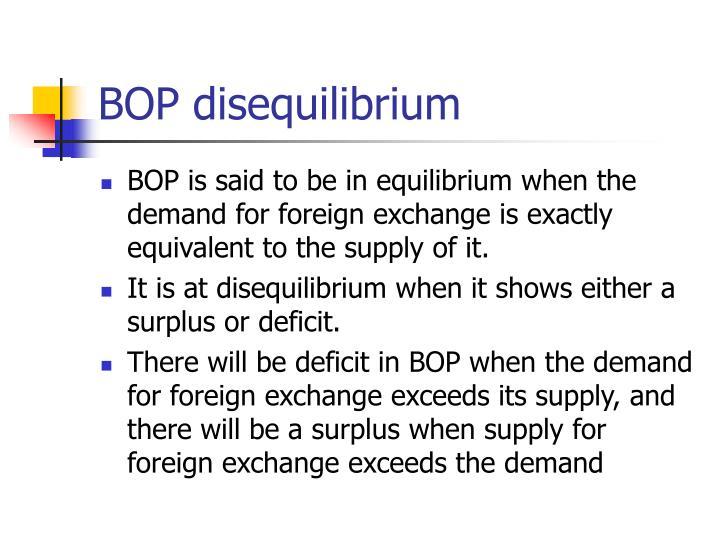 BOP disequilibrium